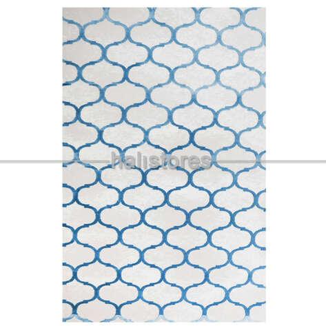 - Lüks Halı Taç 7057 Mavi (1)