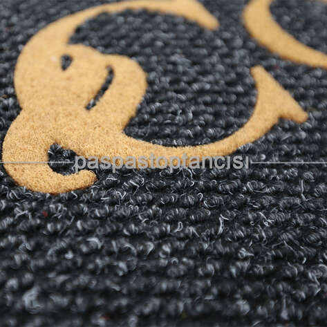 Paspas Toptancısı - Markalar İçin Logolu Siyah Paspas (1)