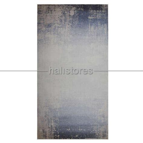 Mavi Degrade Baskılı Yolluk Halı Surre SUR016