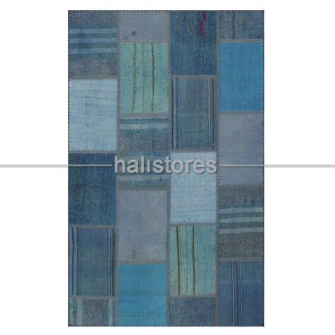 - Mavi Patchwork Kırkyama Halı (1)