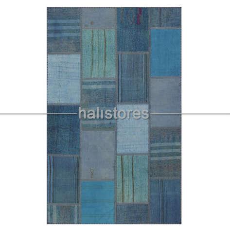 Halıstores - Mavi Patchwork Kırkyama Halı (1)