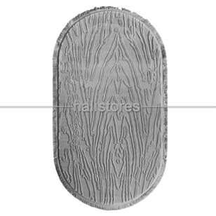 Merinos Gri Oval Halı Adore AA003 095 - Thumbnail