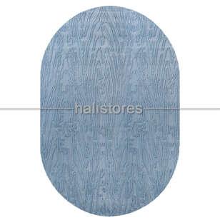 Merinos Mavi Oval Halı Adore AA003 030 - Thumbnail