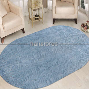Merinos Halı - Merinos Mavi Oval Halı Adore AA003 030 (1)
