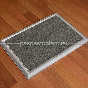 Paspas Toptancısı - Metal Paspas Hijyen Paspası Gri (1)