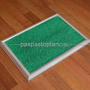 Paspas Toptancısı - Metal Paspas Hijyen Paspası Yeşil (1)