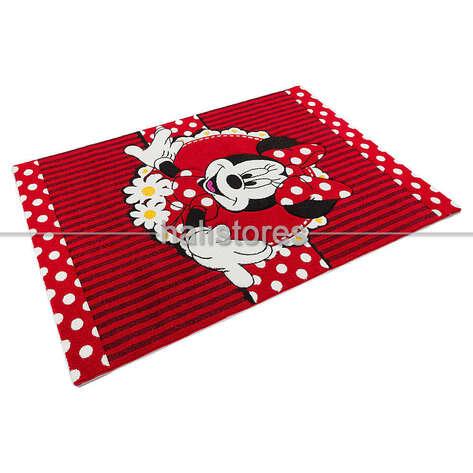 Minnie Mouse Kırmızı Kız Çocuk Halısı Kids 06