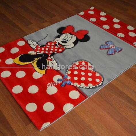 Halıstores - Minnie Mouse Puantiyeli Çocuk Halıları Kids 522 (1)