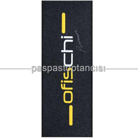 Paspas Toptancısı - Mobilya Firmaları için Logolu Siyah Paspaslar (1)