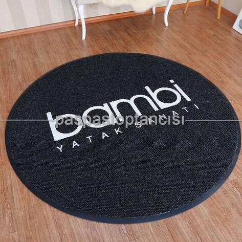 Paspas Toptancısı - Mobilya Mağazaları için Logolu Yuvarlak Paspas (1)