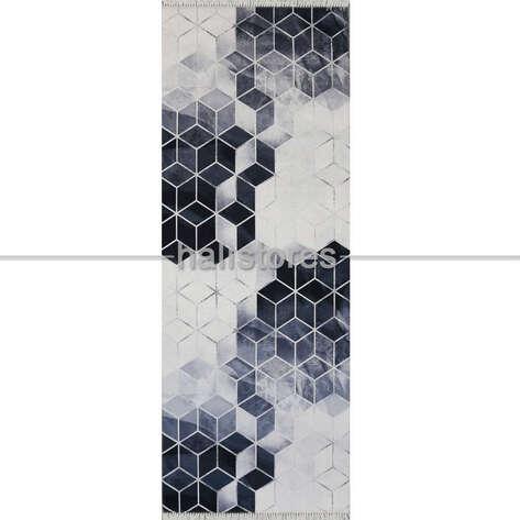 Halıstores - Modern Baskılı Dekoratif Yolluk Halı Suetro Gri (1)