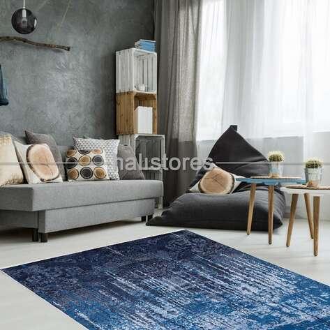 Liviadora - Modern Desenli Lacivert-Mavi Halı Zen (1)