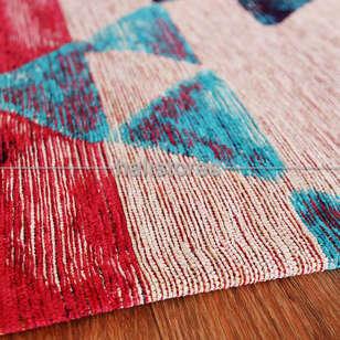 Modern Desenli Renkli Baskılı Halı SM 11 Çok Renkli - Thumbnail