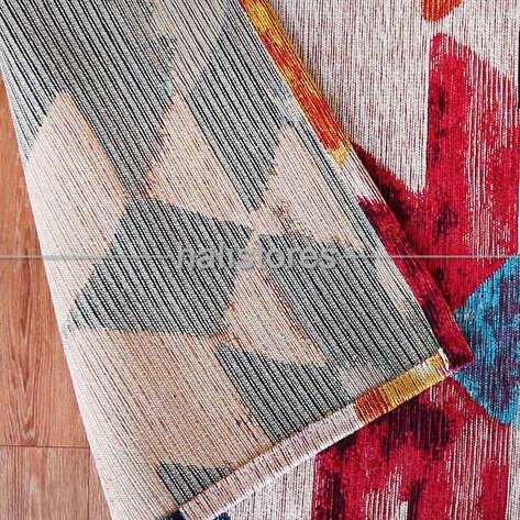 Modern Desenli Renkli Baskılı Halı SM 11 Çok Renkli