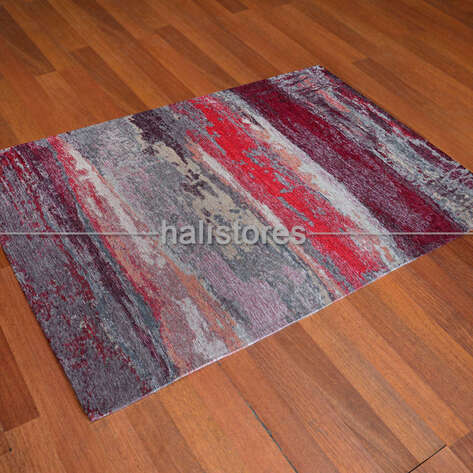 Eko Halı - Modern Desenli Renkli Baskılı Halı SM 12 Kırmızı (1)