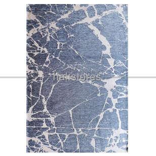 Eko Halı - Modern Desenli Renkli Baskılı Halı SM 21 Mavi (1)