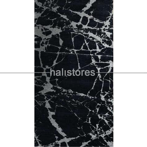 Eko Halı - Modern Desenli Renkli Baskılı Halı SM 21 Siyah (1)