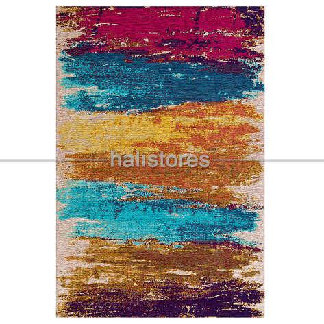 Eko Halı - Modern Desenli Renkli Baskılı Halı SM 36 Çok Renkli (1)