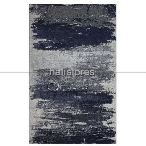 Eko Halı - Modern Desenli Renkli Baskılı Halı SM 36 Mavi-Gri (1)