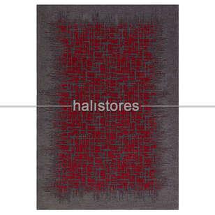 Eko Halı - Modern Desenli Renkli Baskılı Halı SM 42 Grey Red (1)