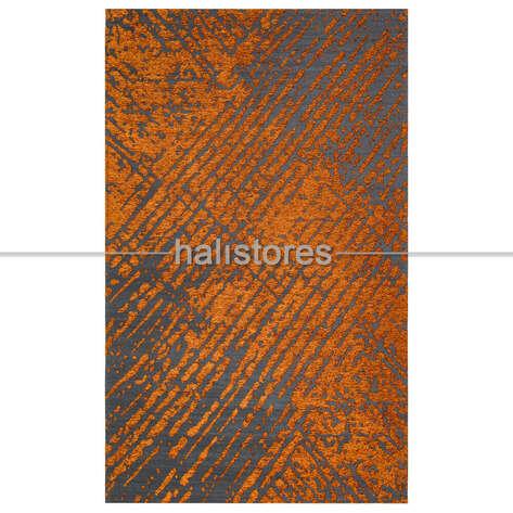 Halıstores - Modern Desenli Turuncu Halı CPL 01 (1)