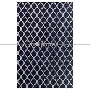 Halıstores - Modern Lastikli Siyah Halı Örtüsü (1)