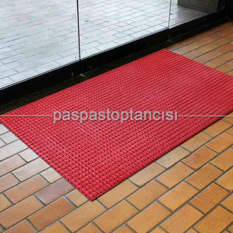 Paspas Toptancısı - Nem ve Toz Alıcı Kırmızı Ofis Tipi Yolluk Halı Paspas (1)