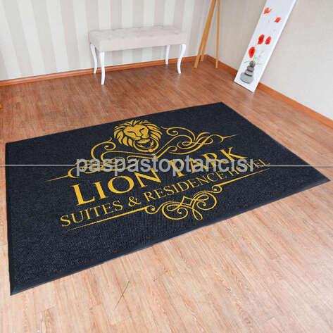 Paspas Toptancısı - Oteller için Logolu Halı Paspas (1)