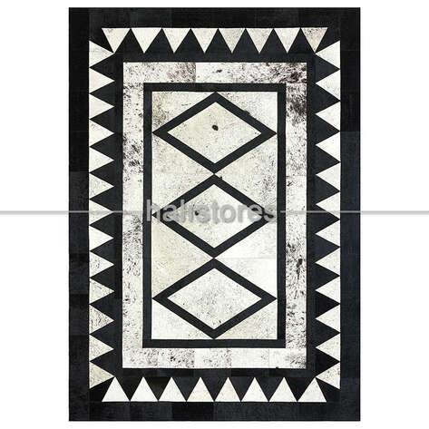 Liviadora - Özel Tasarım Deri Halı Siyah-Beyaz (1)