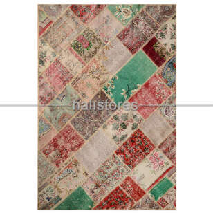 Patchwork El Halısı Cross Multi Naturel - Thumbnail