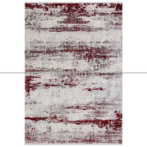 Halıstores - Renkli Halı Trend 15463a Krem Kırmızı (1)