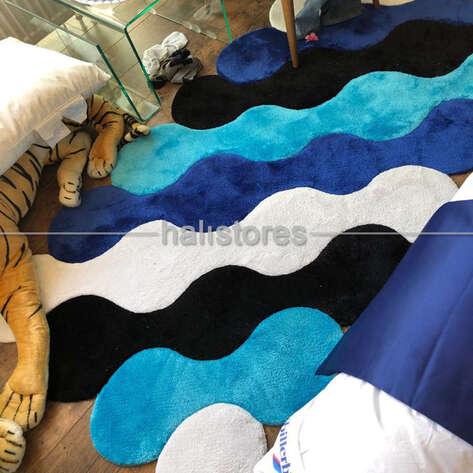 Royal Halı - Royal Halı Custom Design Degrade Mavi Halı (1)