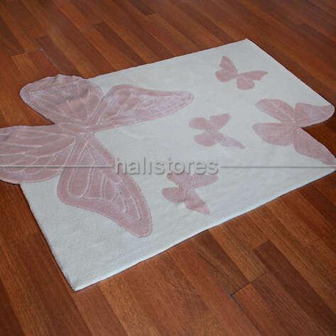 Royal Halı - Royal Özel Tasarım Çocuk Halısı Kelebekler CD75M (1)