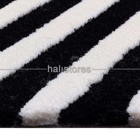 Royal Halı - Royal Siyah-Beyaz Halı Custom Design Q405A (1)