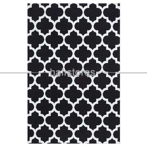 Eko Halı - Siyah Beyaz Baskılı Halı LN 33 (1)