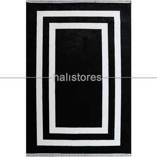 Liviadora - Siyah-Beyaz Çerçeveli Modern Halı Anka (1)