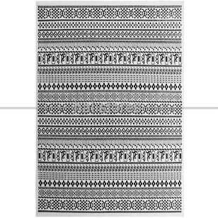 Siyah Beyaz Yün Kilim Halı Hattuşa Ht-05 Beyaz - Thumbnail