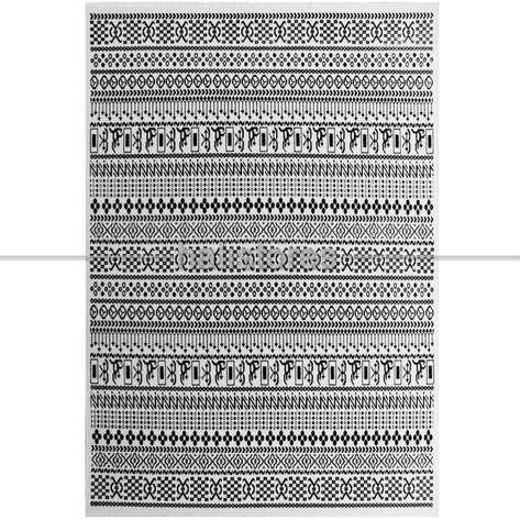 Liviadora - Siyah Beyaz Yün Kilim Halı Hattuşa Ht-05 Beyaz (1)
