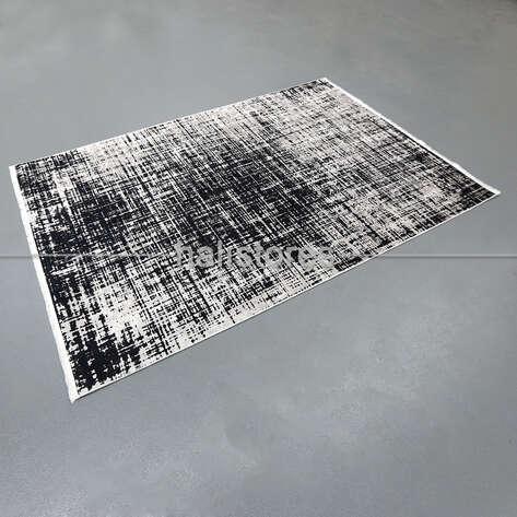 Liviadora - Soyut Desenli Siyah-Beyaz Halı Zen (1)
