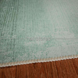 Su Yeşili Degrade Baskılı Halı Surre SUR018 - Thumbnail