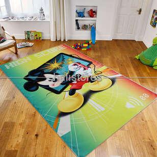 Taç Lisanslı Mickey Erkek Çocuk Halısı - Thumbnail