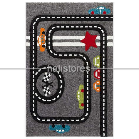 Halıstores - Trafik Desenli Çocuk Halıları Gri Kids 15 (1)