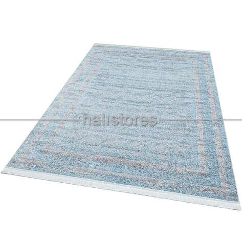Halıstores - Yıkanabilir Halı Sateen ST 05 Mavi (1)