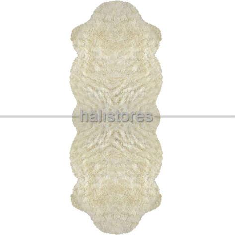Yıkanabilir Uzun Tüylü Kemik Post Halı 80 x 200