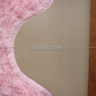 Yıkanabilir Uzun Tüylü Pembe Post Halı 140 x 200 - Thumbnail