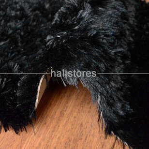 - Yıkanabilir Uzun Tüylü Siyah Post Halı 80 x 200 (1)