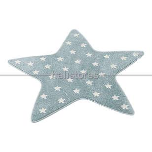 Halıstores - Yıldız Desenli Mavi Bebek ve Çocuk Halısı (1)