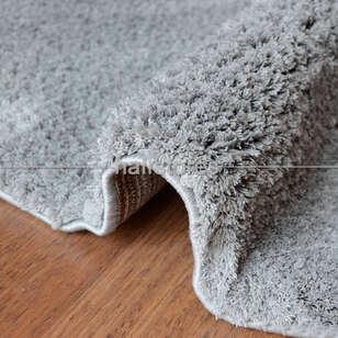 Yumuşak Tüylü Yuvarlak Halı Comfort 1006 Gri - Thumbnail