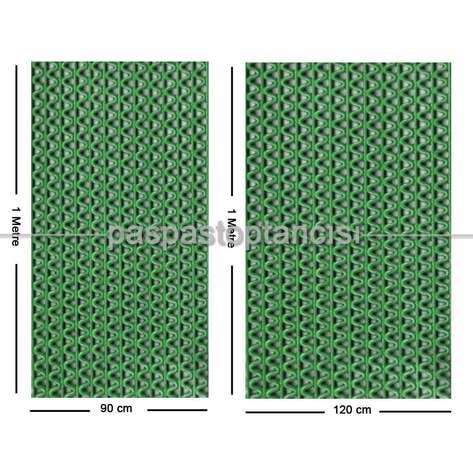Paspas Toptancısı - Z Mat Islak Zemin Paspası Normal 5 mm Yeşil (1)