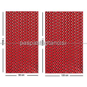 Paspas Toptancısı - Z Mat Islak Zemin Paspası Süper 7 mm Kırmızı (1)